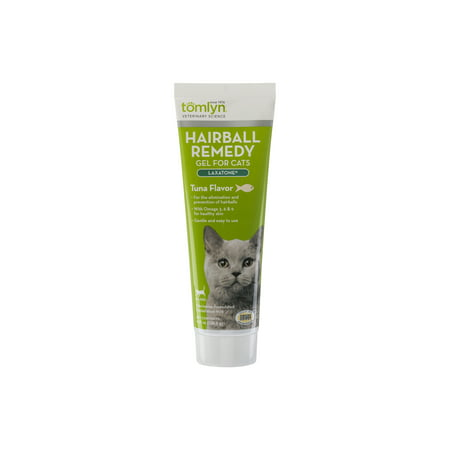 - Tomlyn Laxatone Hairball Remedy Supplement for Cats, Tuna Flavor, 4.25 oz.