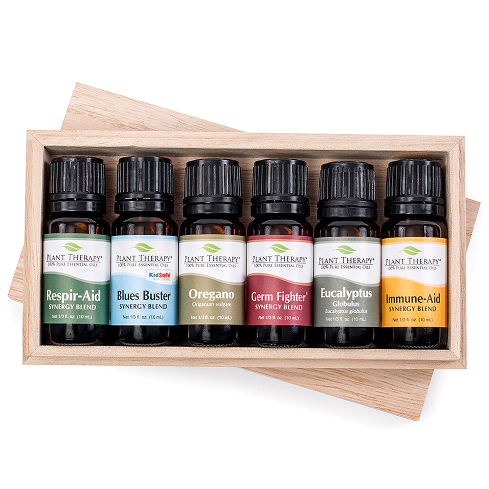 Plant Therapy Wellness Essential Oil Set 10 mL (1/3 fl. oz.) 100% Pure, Undiluted, Therapeutic Grade
