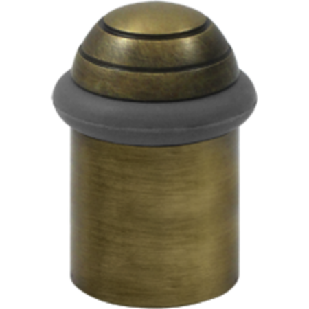 Universal Dome - 2-1/8 Inch Height Solid Brass Round Universal Floor Bumper Dome Cap Antique Brass