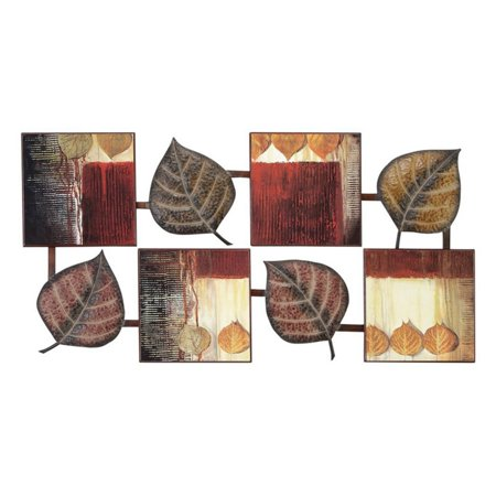 Decmode metal and wood wall decor multi color for Al ahram aluminium decoration