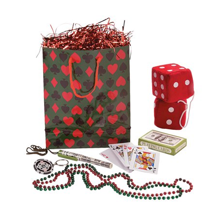 Fun Express - Casino Filled Swag Bag - Party Supplies - Pre - Filled Party Favors - Pre - Filled Treat Bags & Boxes - 1 Piece](Casino Supply Store)