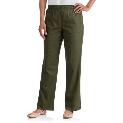 0e0e2997541 White Stag - Women s Elastic Waistband Woven Pull-On Pants available in  Regular and Petite - Walmart.com