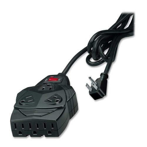 Wholesale CASE of 10 Fellowes Mighty 8 Surge Protector-Surge Protector,5 Adapters,1300 Joules,8 Outlets,6,Black by FEL