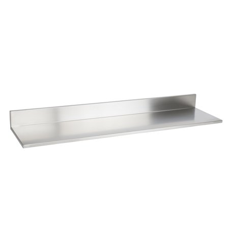 stainless steel floating wall shelf bookshelf with. Black Bedroom Furniture Sets. Home Design Ideas