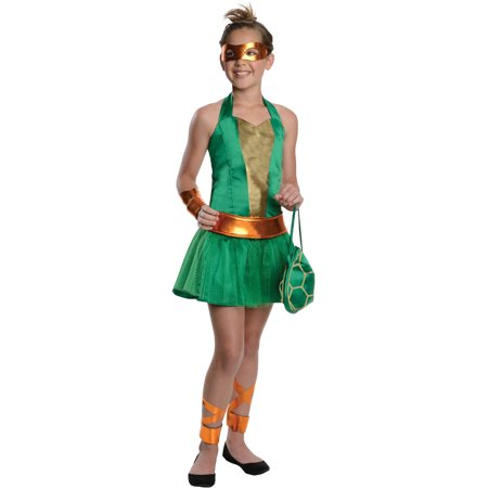 Girls Tween Teenage Mutant Ninja Turtles Michelangelo Costume