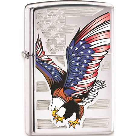 Zippo Eagle Flag High Polish Chrome Lighter Designer Jewelry by Sweet (Cigar Pendant)
