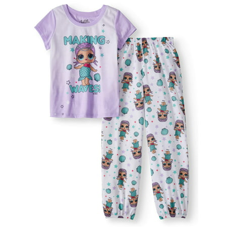 Girls Pajamas Size 7 (Girls' LOL Surprise! 2-Piece Pajama Sleep)