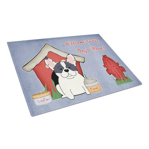 Caroline's Treasures Dog House Glass French Bulldog Cutting Board