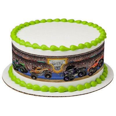 Monster Jam Crunch Time Edible Cake Border Decoration
