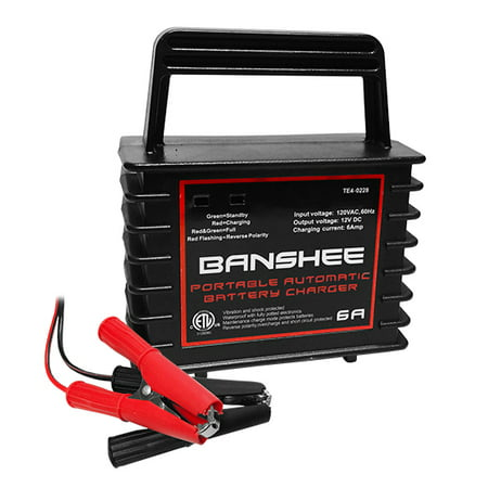 Banshee Brand --Fully Automatic, Waterproof 12v Charger, Maintainer for Wet, GEl, AGM -
