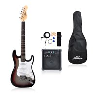 Pyle PEGKT15GS - Beginners Electric Guitar Kit, Includes Amplifier & Accessories (Grey)