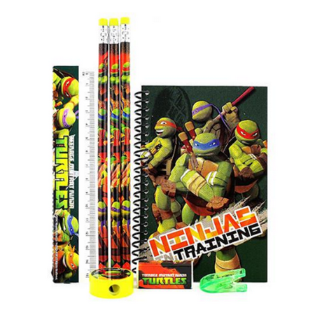 Stationery Set - Ninja Turtles - Green - 6pc Favor Set - Ninja Turtle Favors