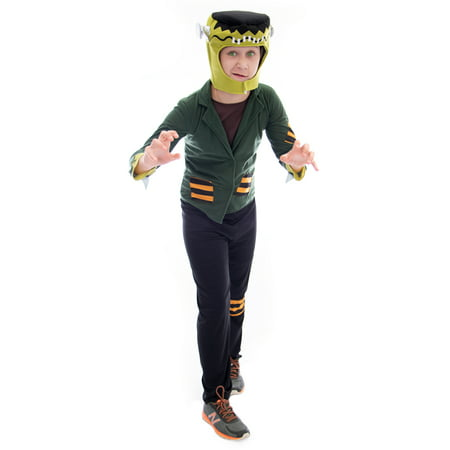 Homemade Monsters Inc Costumes (Boo! Inc. Flat-top Frankenstein Halloween Costume | Unisex Kids Monster Movie)