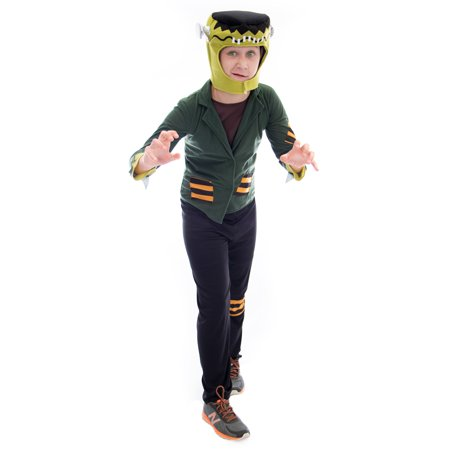 Boo! Inc. Flat-top Frankenstein Halloween Costume | Unisex Kids Monster Movie Suit