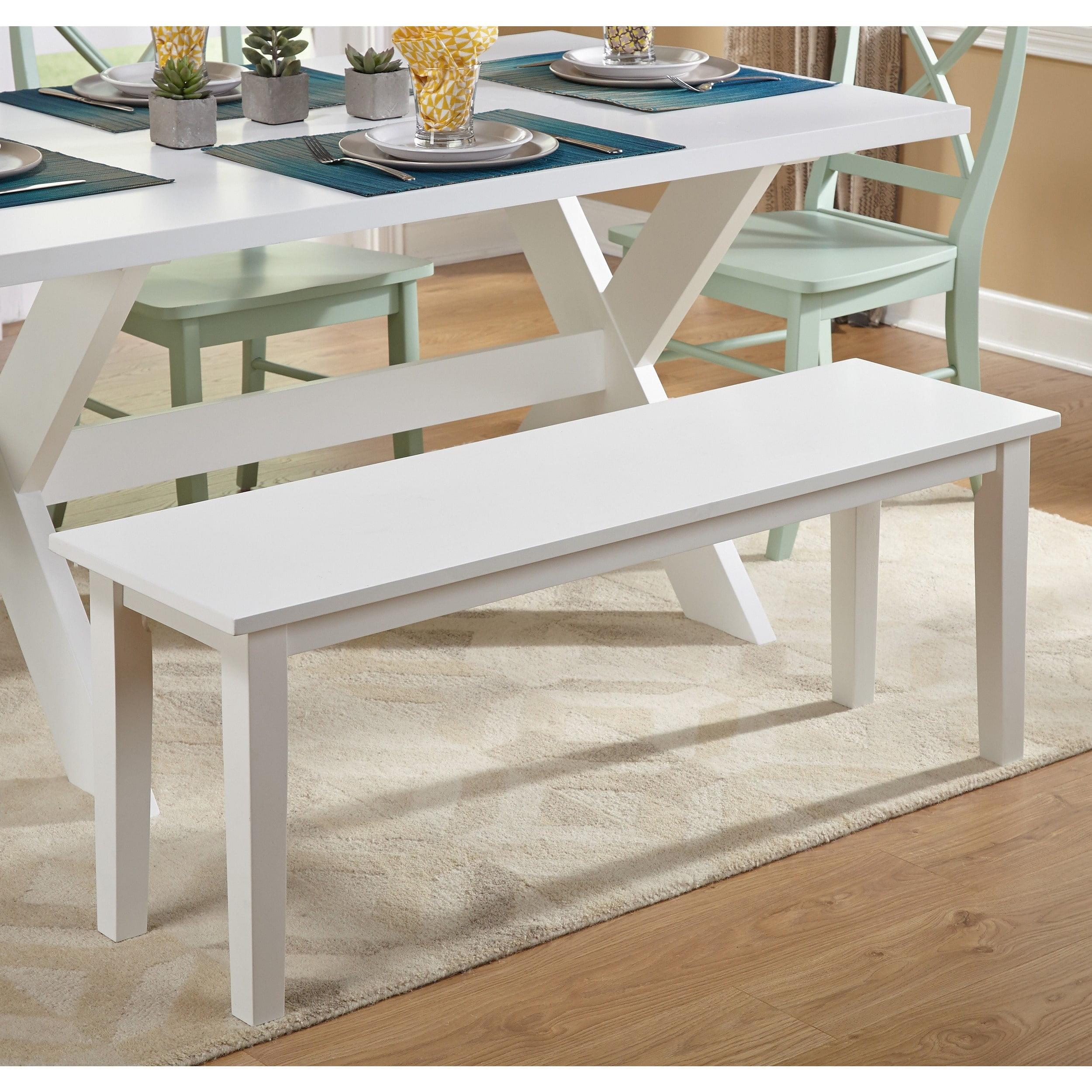Dining Bench, White Finish - Walmart.com