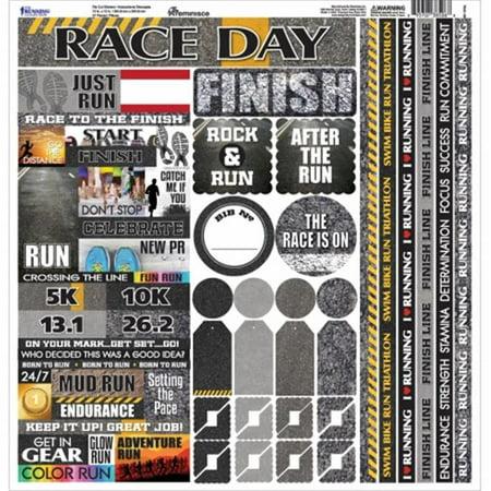 Running Cardstock Sticker, 12