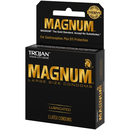- Trojan Magnum Large Size Lubricated Condoms, 3ct