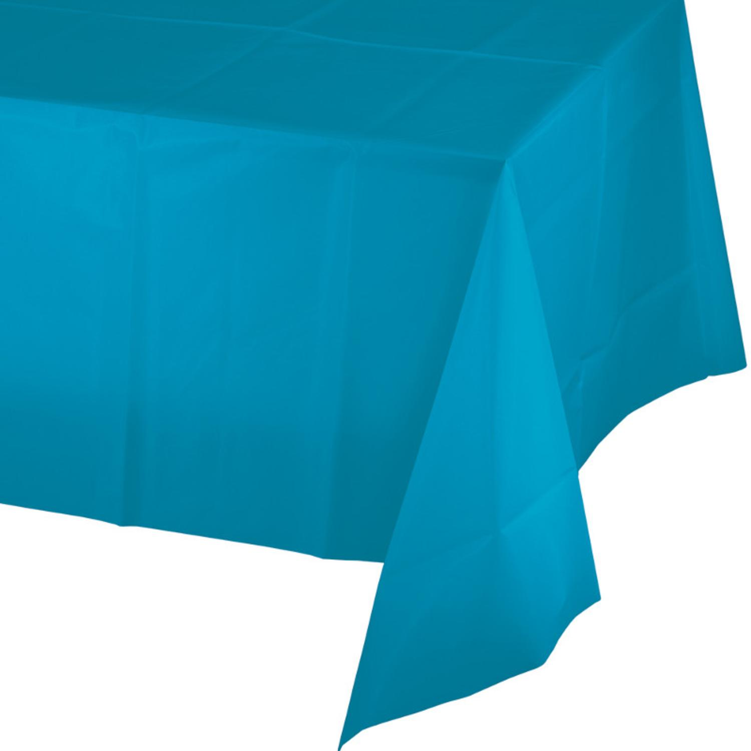 Club Pack of 12 Turquoise Blue Disposable Plastic Banquet Party Table Covers 108