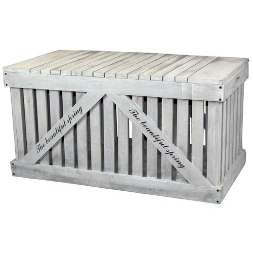 Vintiquewise Rustic Outdoor 42.5 Gallon Wood Deck Box by Quickway Imports