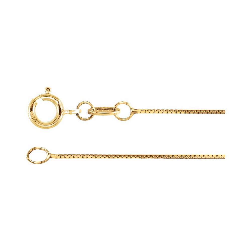 """.50mm 10K SOLID GOLD LADIES BOX CHAIN NECKLACE 20/"""""""