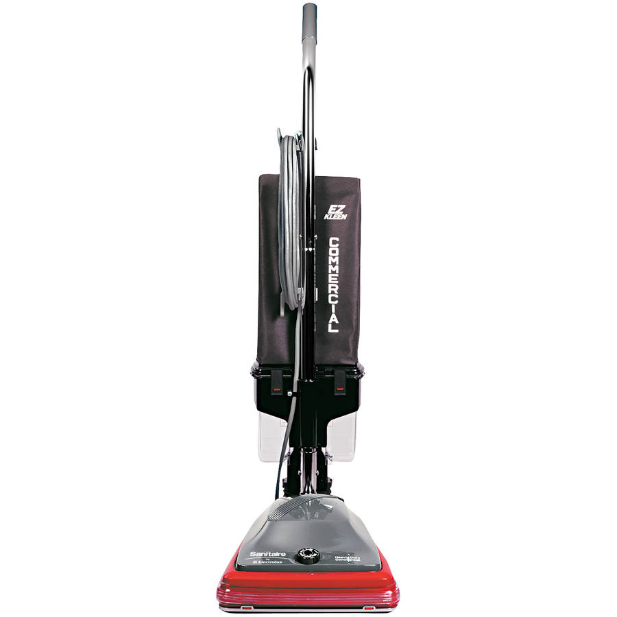 Sanitaire Commercial Lightweight Bagless Upright Vacuum, Gray/Red