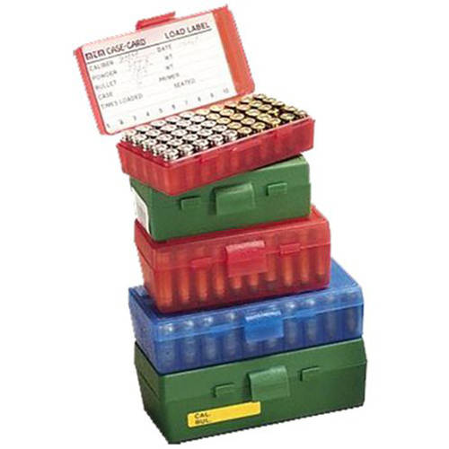 MTM P503810 Flip Top Handgun Ammo Box, P-50 Series