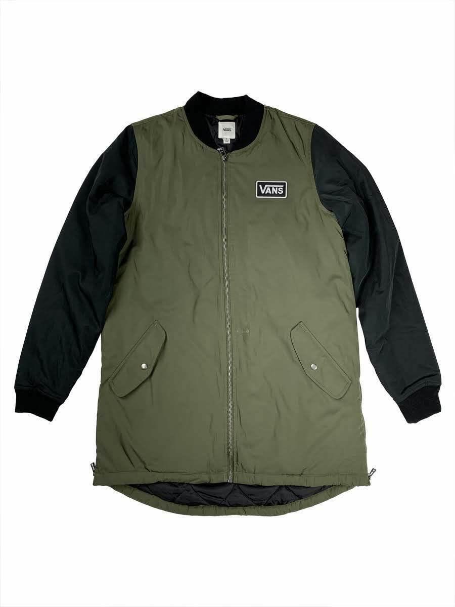 Vans - VANS Womens Boom Boom Long Bomber Jacket Olive ...