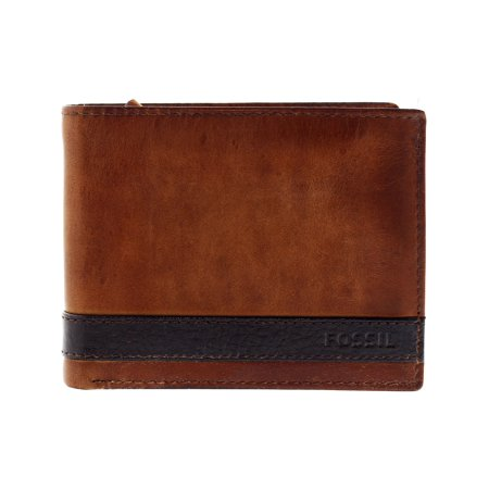 Fossil Men's Quinn L-Zip Bifold Leather Wallet - Brown ()