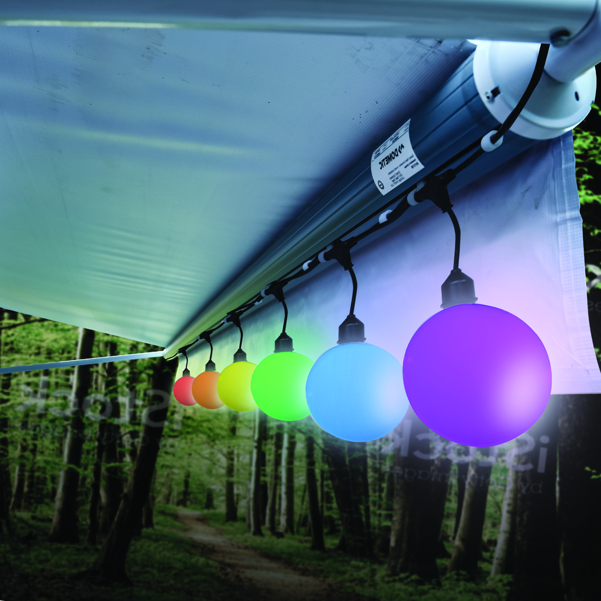 Picture of: Aurora Golden Xl Color Changing Globe String Light With Wireless Remote 12 6 Count Walmart Com Walmart Com