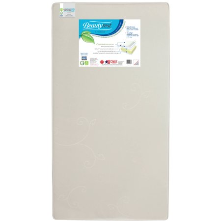 - Beautyrest Studio Starry Dreams 5.25-Inch Crib and Toddler Mattress by Simmons Kids - Fiber Core - Dual Sided - Waterproof Fabric Cover - GREENGUARD Gold Certified (Natural/Non-Toxic)