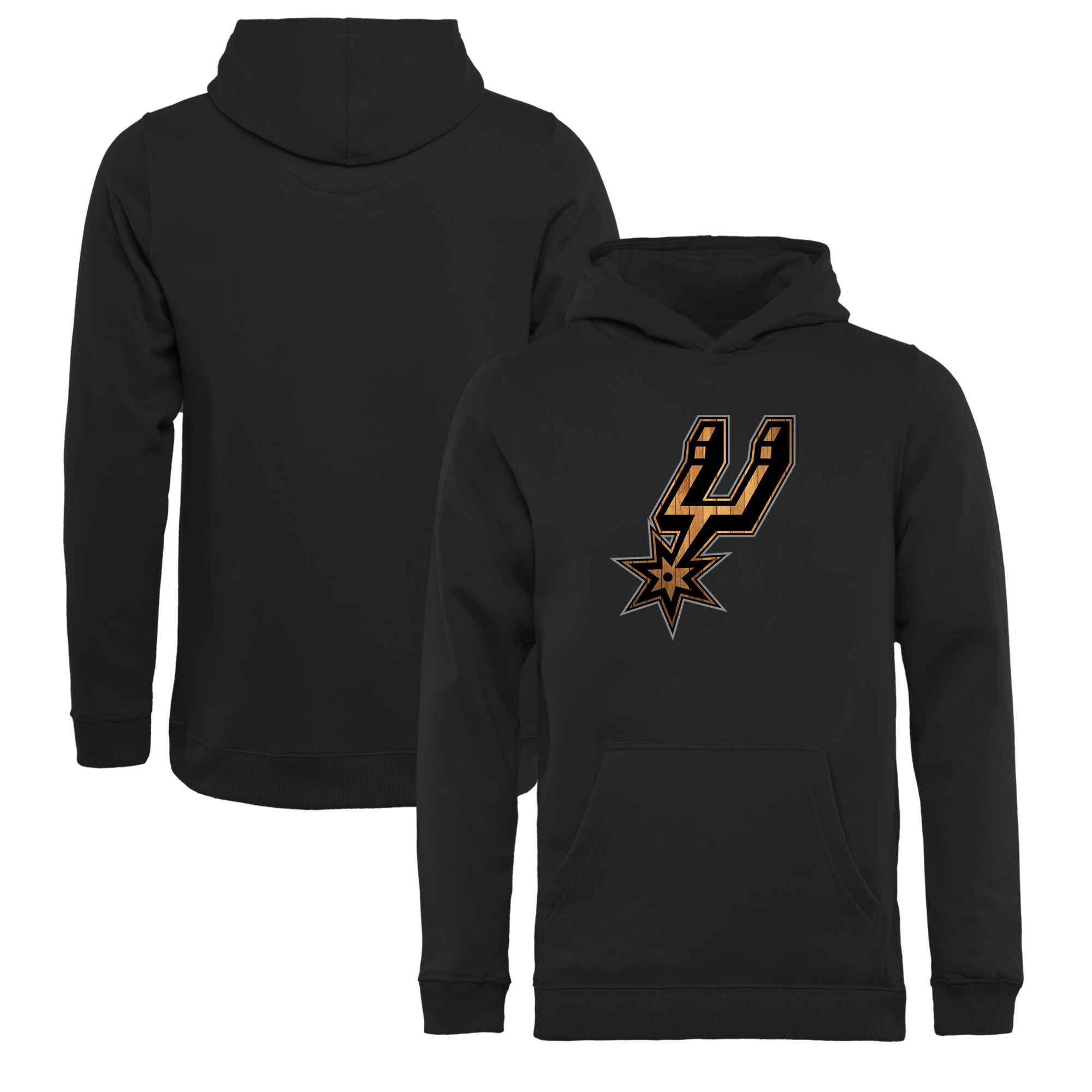 San Antonio Spurs Fanatics Branded Youth Hardwood Pullover Hoodie - Black