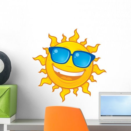 Sticks Sunglasses (Sun Wearing Sunglasses Wall Decal Sticker by Wallmonkeys Peel and Stick Graphic (18 in W x 18 in H))
