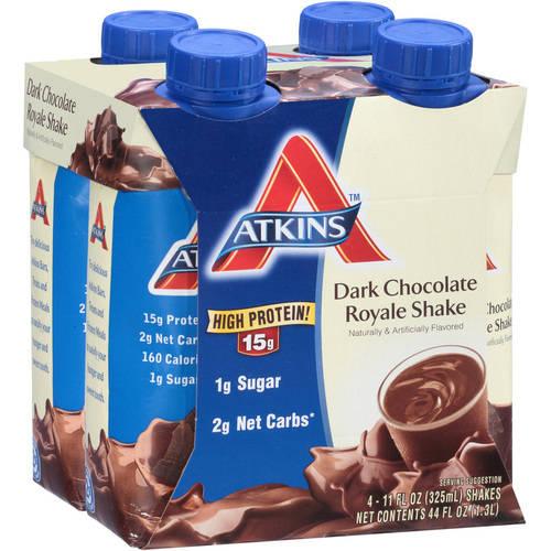 Atkins Ready To Drink Shake, Dark Chocolate Royale, 4 Ct