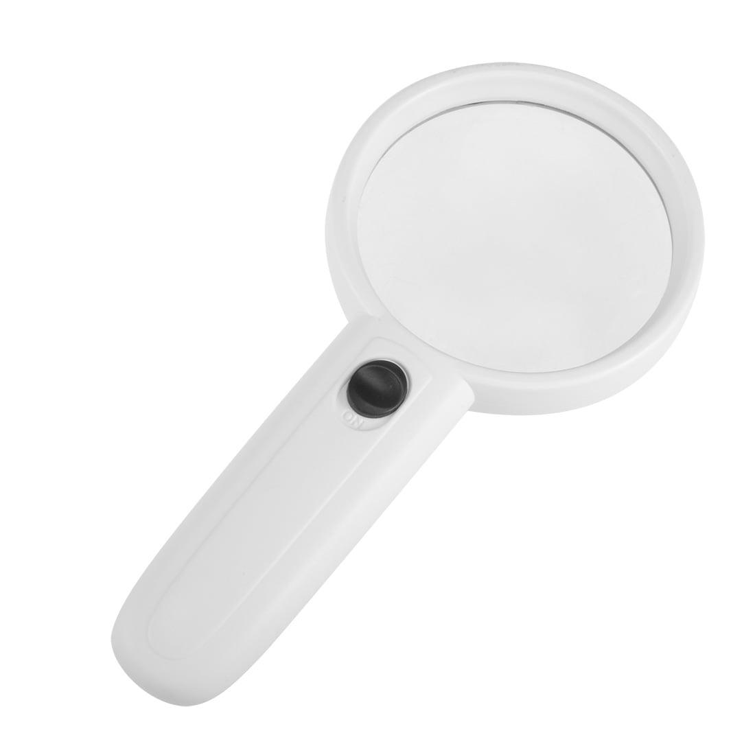 magnifier 2 led light 70mm 3x handheld read magnify glass lens