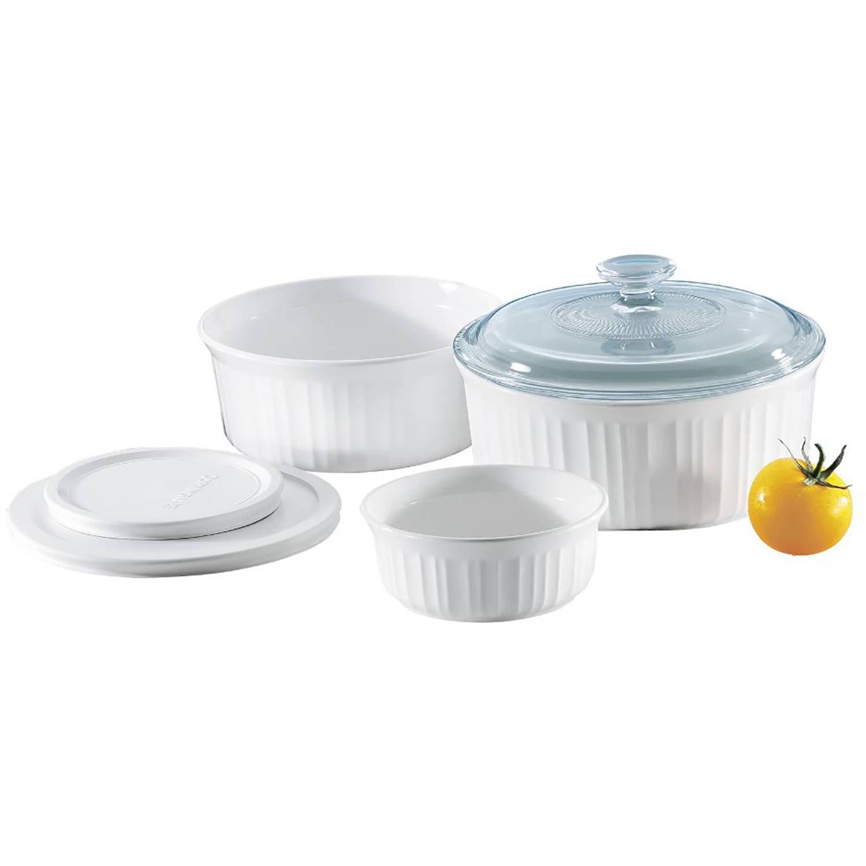 Corningware French White 6 Piece Bakeware Set Walmart