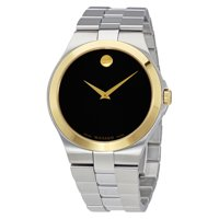 Movado Collection Men's 0606909 Stainless Steel Black Dial Swiss Quartz Watch