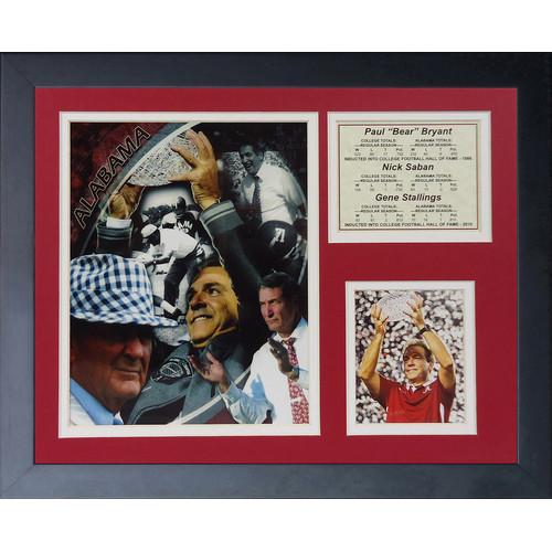 Legends Never Die Alabama Crimson Tide - Coaches Collage Framed Memorabilia