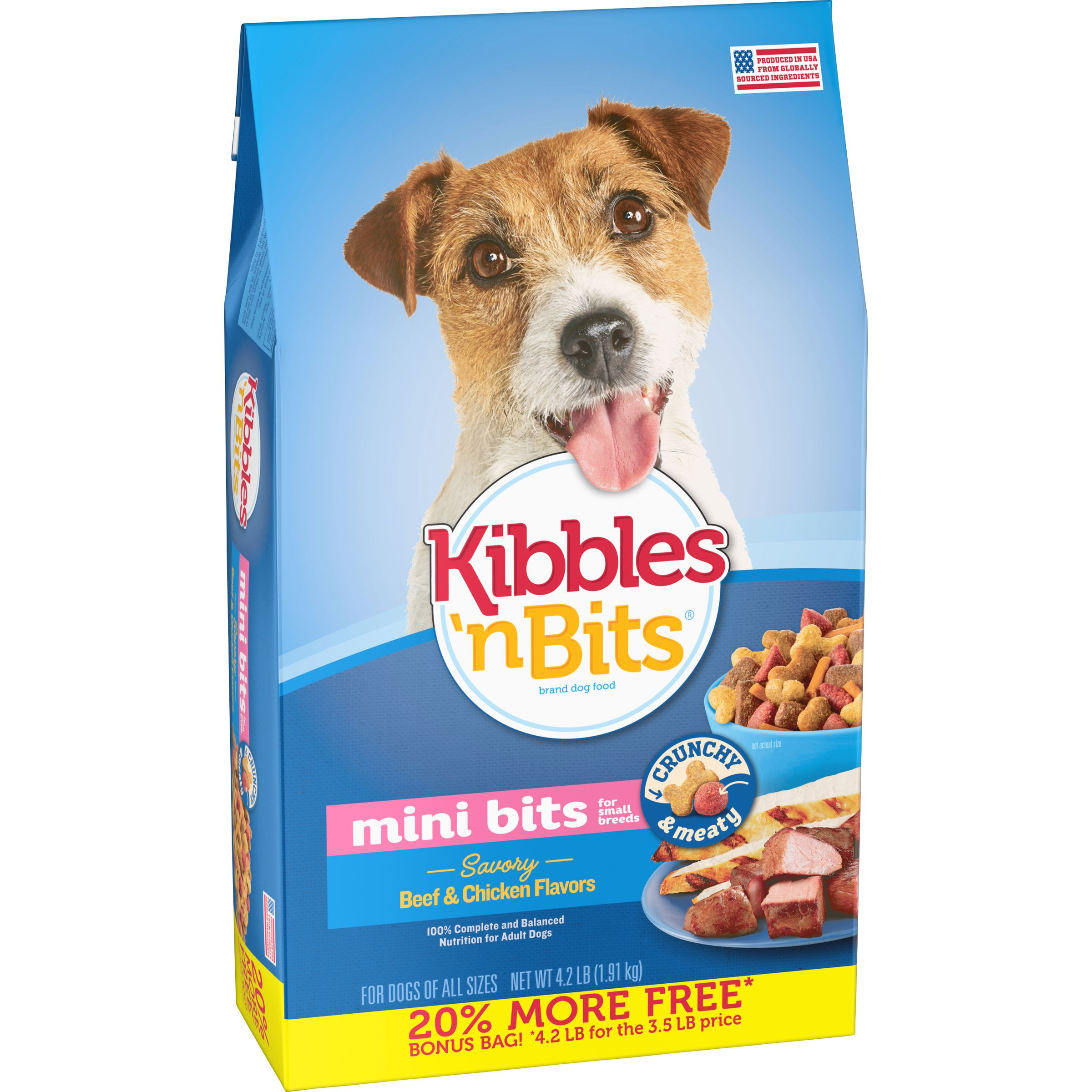 Kibbles 'n Bits Small Breed Mini Bits Savory Beef & Chicken Flavor Dog Food, 4.2-Pound by The J.M. Smucker Company