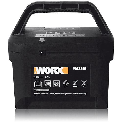 WORX 24V Lead Acid 5Ah Battery for WG775, 782, 783 Mowers