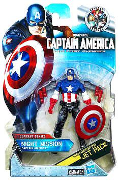 Concept Series Night Mission Captain America Action Figure by Hasbro Inc.