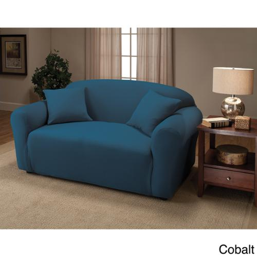 Stretch Jersey Loveseat Slipcover Forest