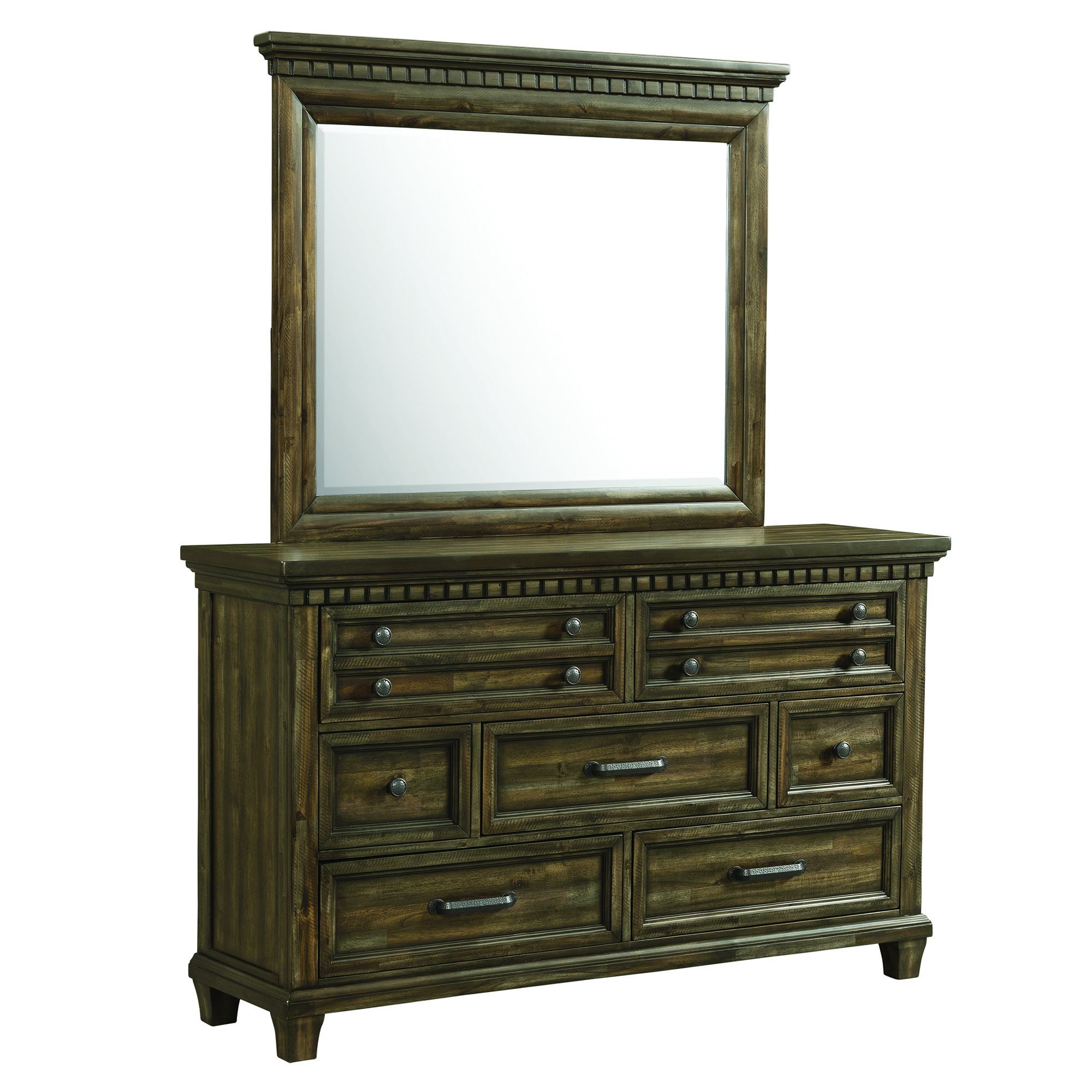 Picket House Furnishings Johnny 7-Drawer Dresser with Mirror Set