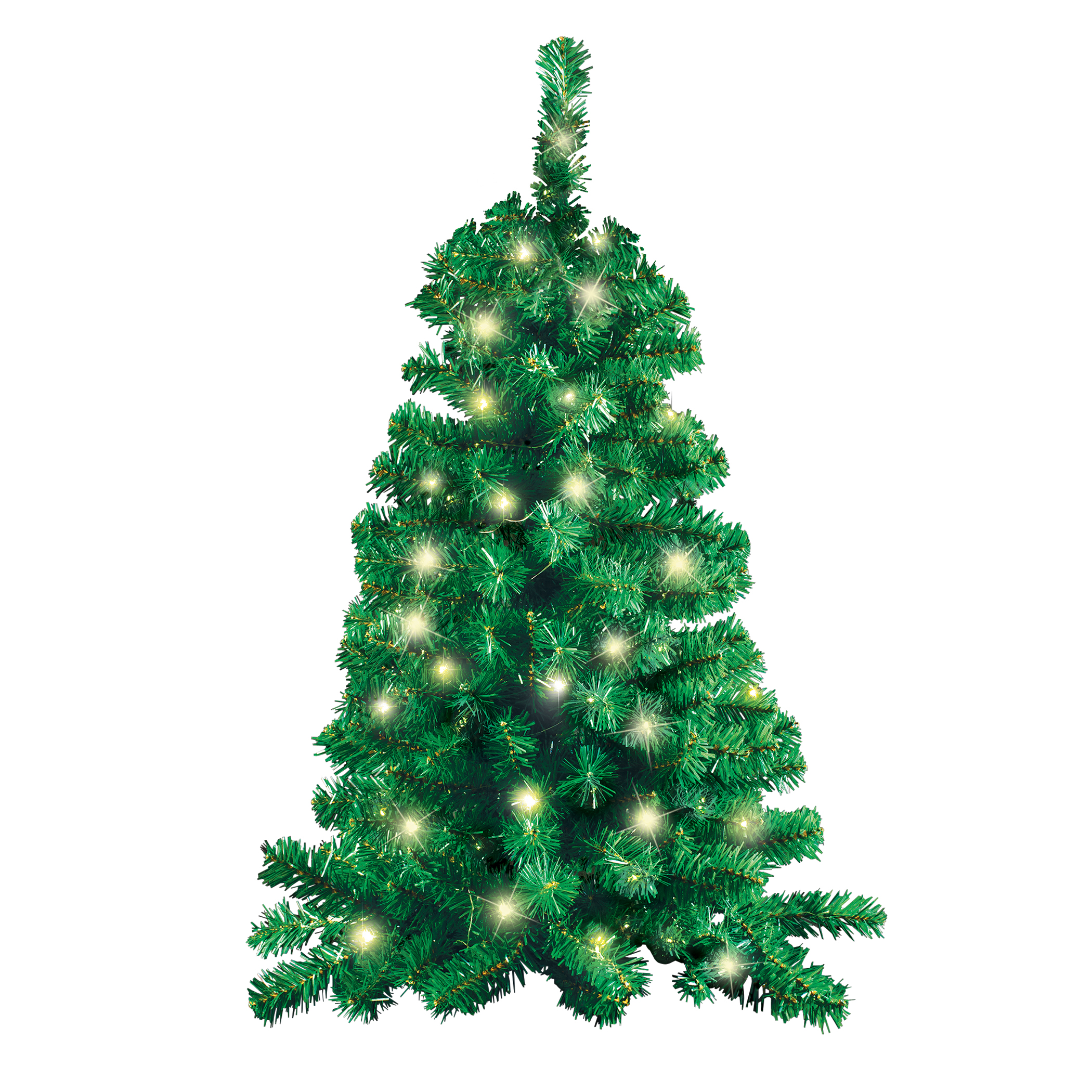 3 Foot Pre Lit Led Flat Wall Hanging Christmas Tree Walmart Com Walmart Com