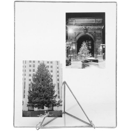 SILVER Clear Glass Float Frame 9x11/8x10 by Bedford Downing - 8x10 ...