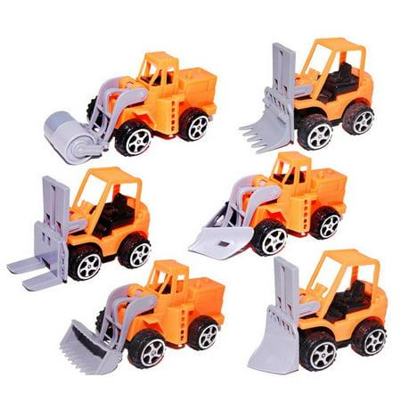 Pull Back Car Mini Car Forklift Toy Car Model Excavator - image 3 de 6