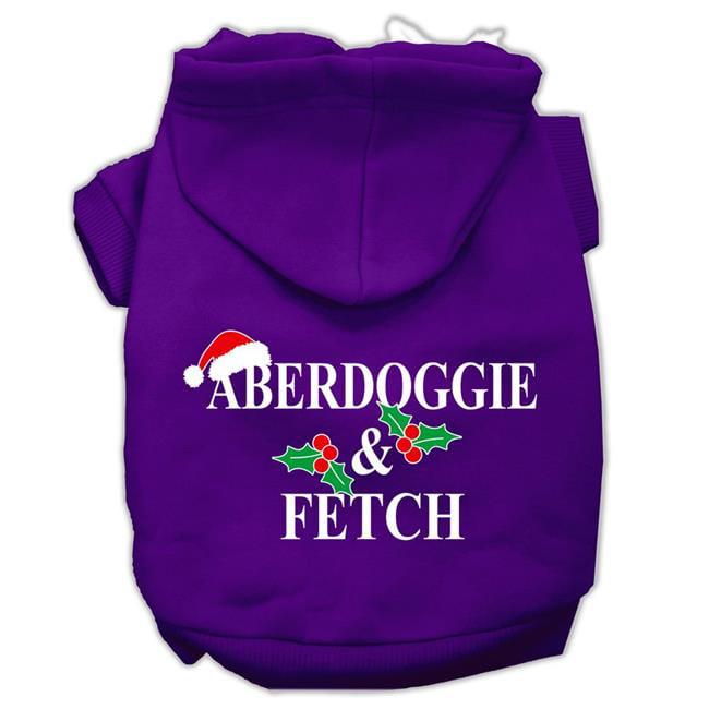 Aberdoggie Christmas Screen Print Pet Hoodies Purple Size Xxl (18) - image 1 de 1