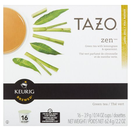 Keurig Brewed Tazo Zen Green Tea With Lemongrass   Spearmint  0 14 Oz  16 Count