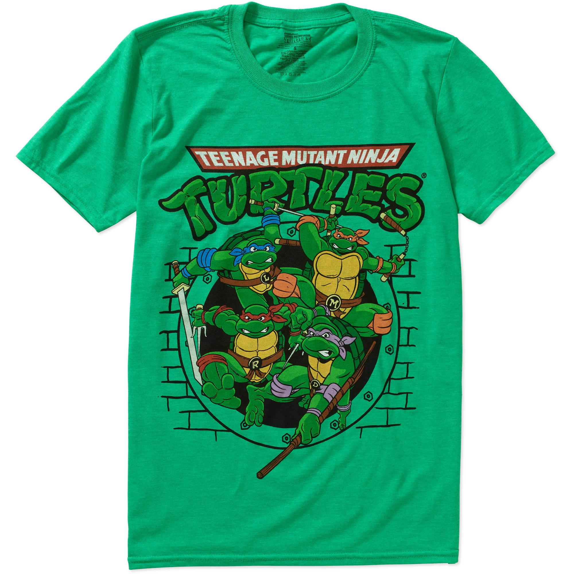 Teenage Mutant Ninja Turtles Vintage Sewer Big Men's Graphic Short Sleeve Tee