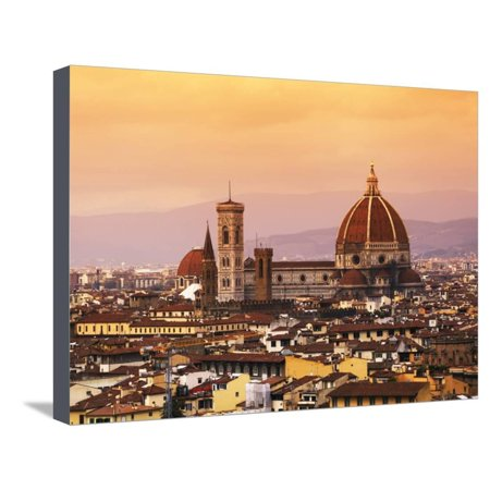 Italy, Florence, Tuscany, Western Europe, 'Duomo' Designed by Famed Italian Architect Brunelleschi, Stretched Canvas Print Wall Art By Ken
