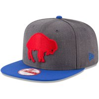 Buffalo Bills New Era Historic 9FIFTY Adjustable Snapback Hat - Heathered Charcoal/Royal - OSFA